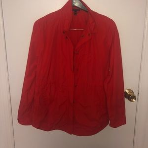 Eileen Fisher Red Windbreaker Medium